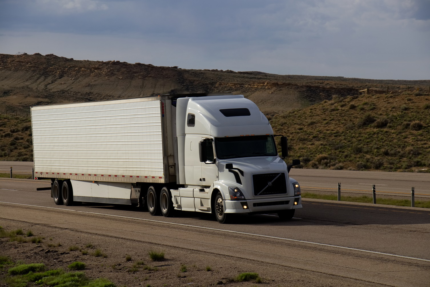 Volvo Truck out West on the road